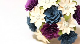 Paper Wedding Bouquets Photo Free#3
