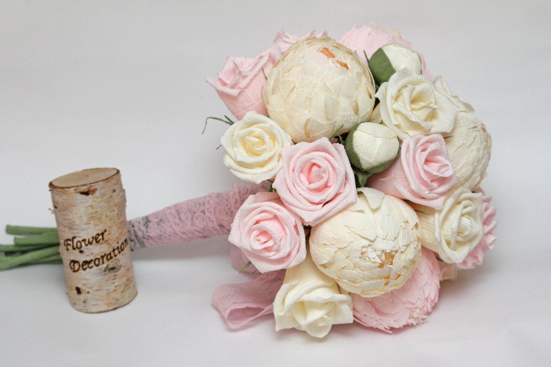 Свадебный букет из гофробумаги своими руками 79