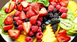 Plate Of Fruit Wallpaper 1080p