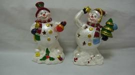 Porcelain Snowman Wallpaper HQ#1