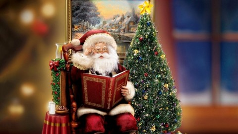 Santa Claus And Tree wallpapers high quality