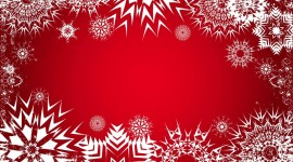 Snowflake Frame Wallpaper For Desktop