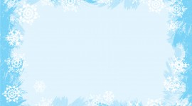 Snowflake Frame Wallpaper For PC