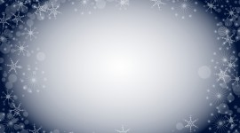 Snowflake Frame Wallpaper Full HD