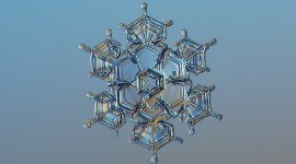 Snowflake Macro Wallpaper 1080p