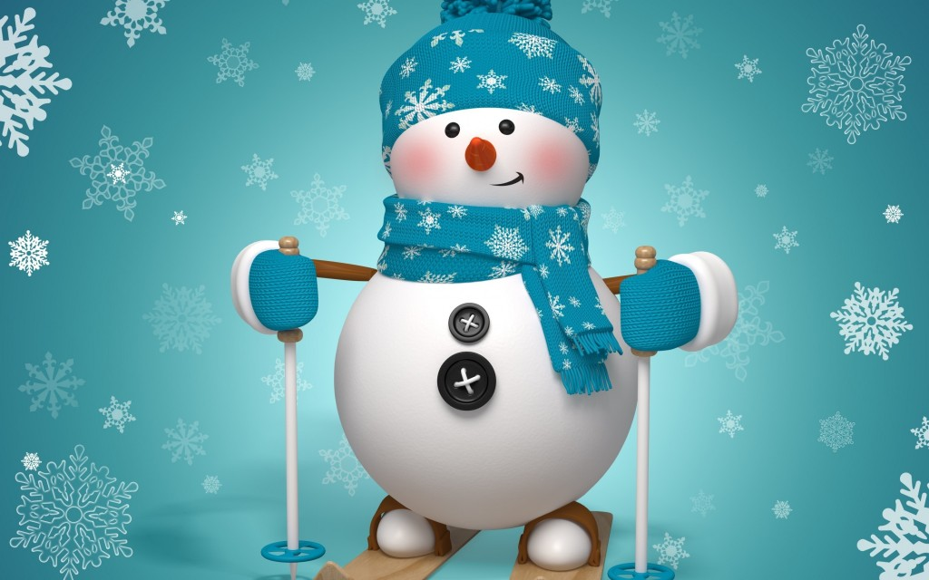 Snowman Skiing wallpapers HD