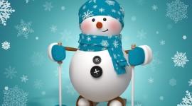 Snowman Skiing Best Wallpaper