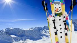 Snowman Skiing Photo Free