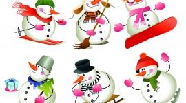 Snowman Skiing Wallpaper