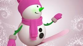 Snowman Skiing Wallpaper HQ