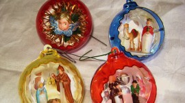 Vintage Christmas Decorations Photo Free#1