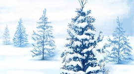 White Christmas Trees Photo Free