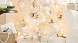 White Christmas Trees Wallpaper For Android