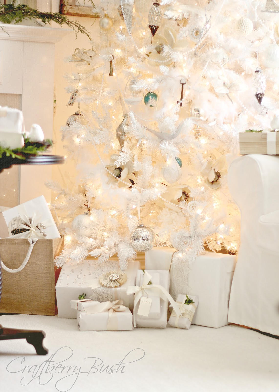 White Christmas Trees Wallpapers High Quality Download Free