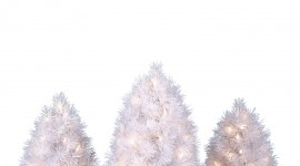 White Christmas Trees Wallpaper For Mobile#5