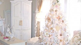 White Christmas Trees Wallpaper Free