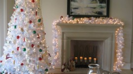 White Christmas Trees Wallpaper Gallery