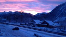 Winter Dawn Desktop Wallpaper