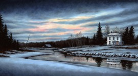 Winter Dawn Wallpaper Free