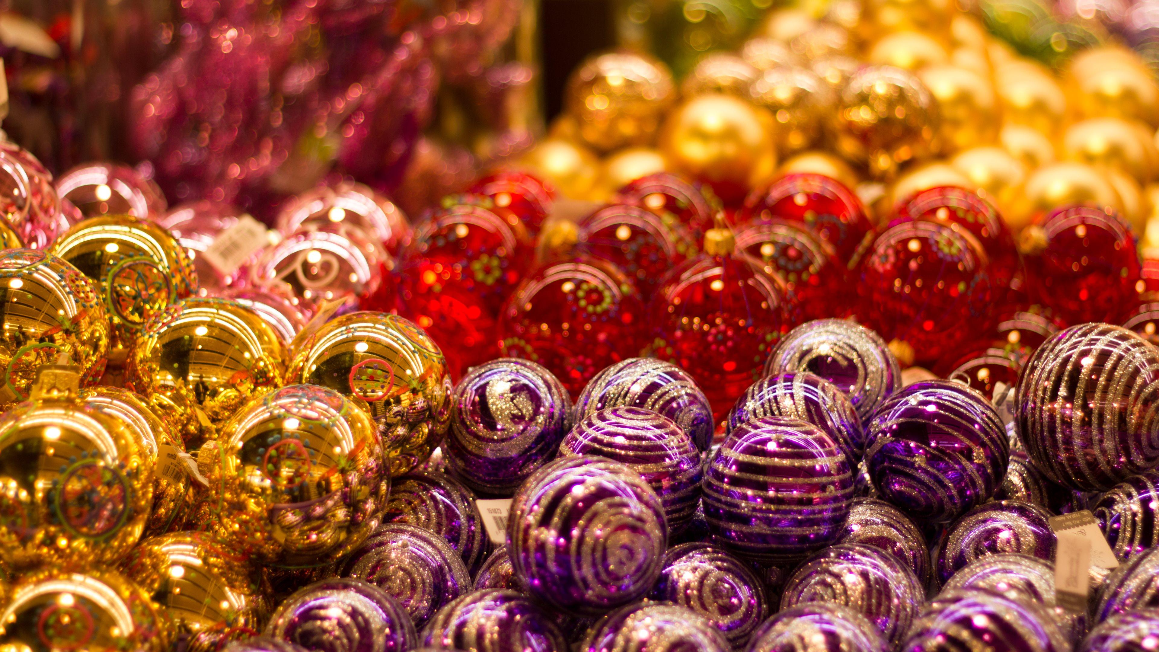 4k christmas balls wallpapers high quality