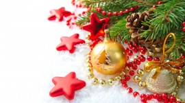 4K Christmas Balls Photo Download