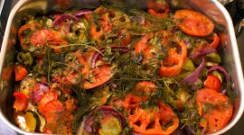 Baked Vegetables High Quality Wallpaper