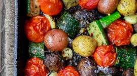 Baked Vegetables Wallpaper For IPhone Free