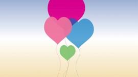 Balloon Heart Desktop Wallpaper