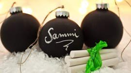 Black Christmas Balls Desktop Wallpaper For PC