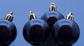 Black Christmas Balls Photo Download
