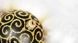 Black Christmas Balls Photo Free