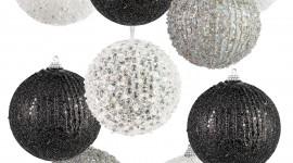 Black Christmas Balls Wallpaper For Mobile