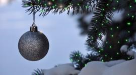 Black Christmas Balls Wallpaper HQ