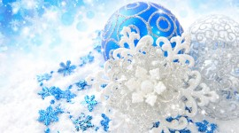 Blue Christmas Balls Best Wallpaper#1