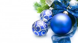 Blue Christmas Balls Desktop Wallpaper