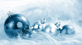 Blue Christmas Balls Photo Download