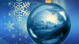 Blue Christmas Balls Photo Free#2