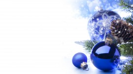 Blue Christmas Balls Photo#1