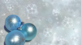 Blue Christmas Balls Photo#3