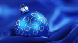 Blue Christmas Balls Wallpaper 1080p