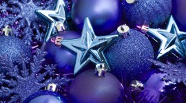 Blue Christmas Balls Wallpaper