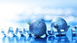 Blue Christmas Balls Wallpaper Download