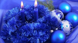 Blue Christmas Balls Wallpaper For PC#1