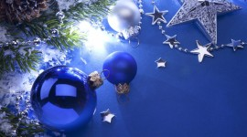 Blue Christmas Balls Wallpaper Full HD#1