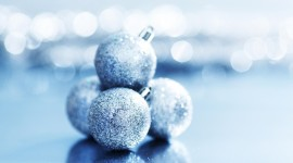 Blue Christmas Balls Wallpaper Gallery