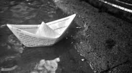 Boat Out Of Paper Photo