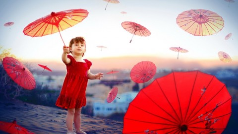 Children's Umbrellas wallpapers high quality