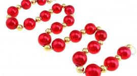 Christmas Beads Desktop Wallpaper