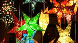 Colorful Christmas Stars Best Wallpaper