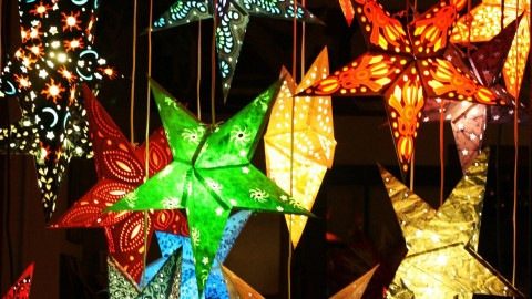 Colorful Christmas Stars wallpapers high quality